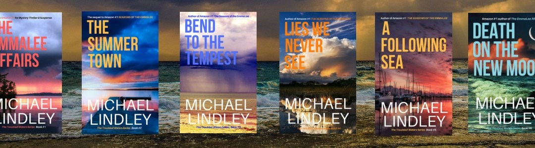 "Michael Lindley's ""Troubled Waters"" suspense thriller series continues with the launch of ""Death On The New Moon"" on June 21."