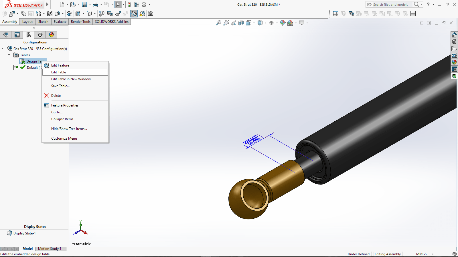When Only A Design Table Will Do Solidworks