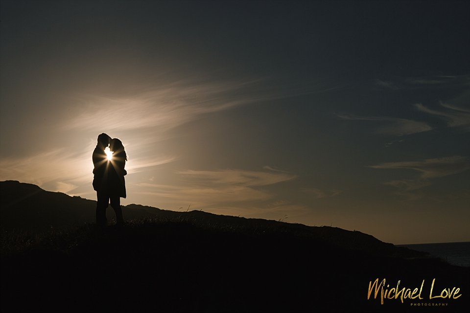 Sunset Engagement Photos on the Coast, Donegal