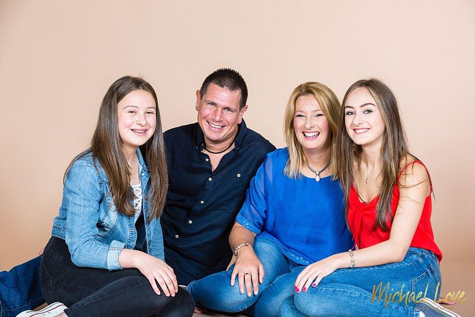 Family studio photo in Derry