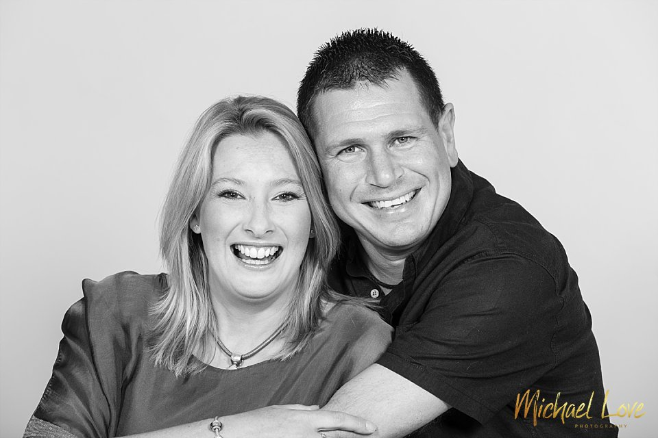 Studio ohoto in Londonderry of husband and wife