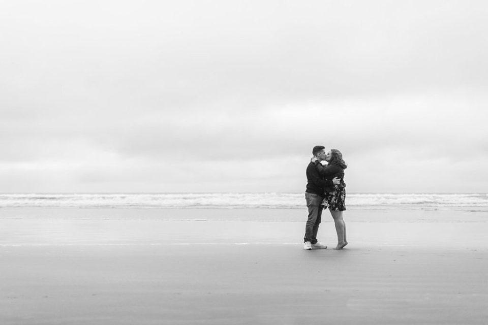 downhill beach engagement michael love