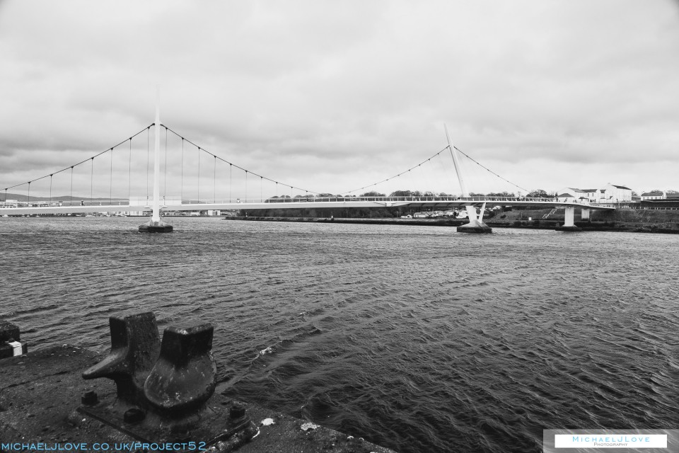 Waiting By The Bridge - Project 52 - Week 2 - Landscape: Black & White