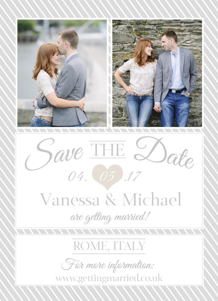 Our Save the Date for Rome