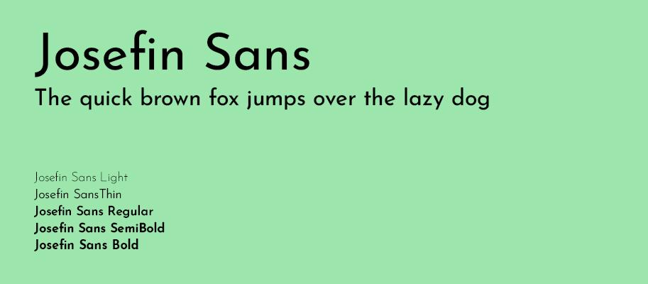 Josefin Sans - Best Google Fonts - Michael Lutjen