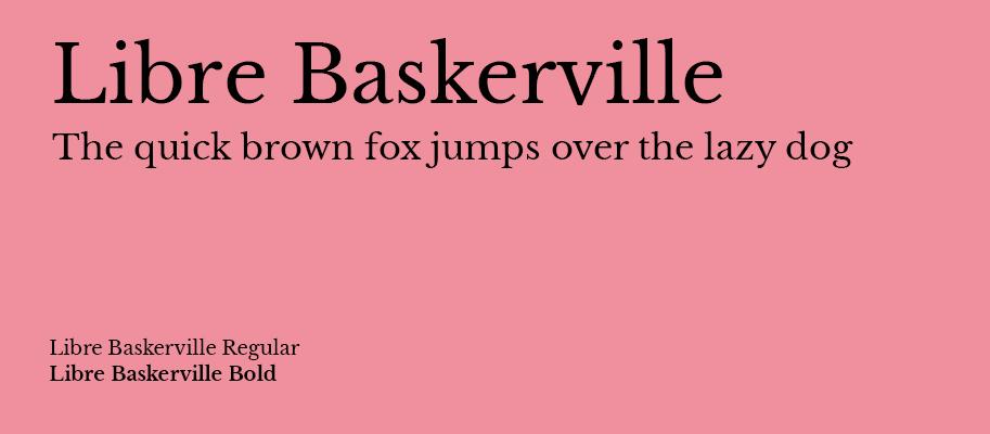 Libre Baskerville - Michael Lutjen