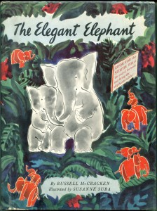 Book-Susanne Suba-The Elegant Elephant-1944-DJ-b