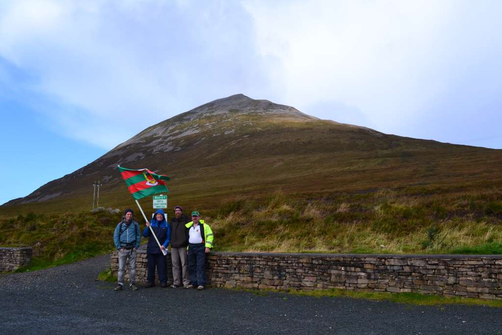 At the base of Mount Errigal County Donegal - Patrick Dwyer, Cllr Joe Mellett, Douglas Kelly and Michael Maye.