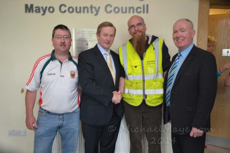 Official opening of Swinford Cultural Centre by An Taoiseach Enda Kenny.