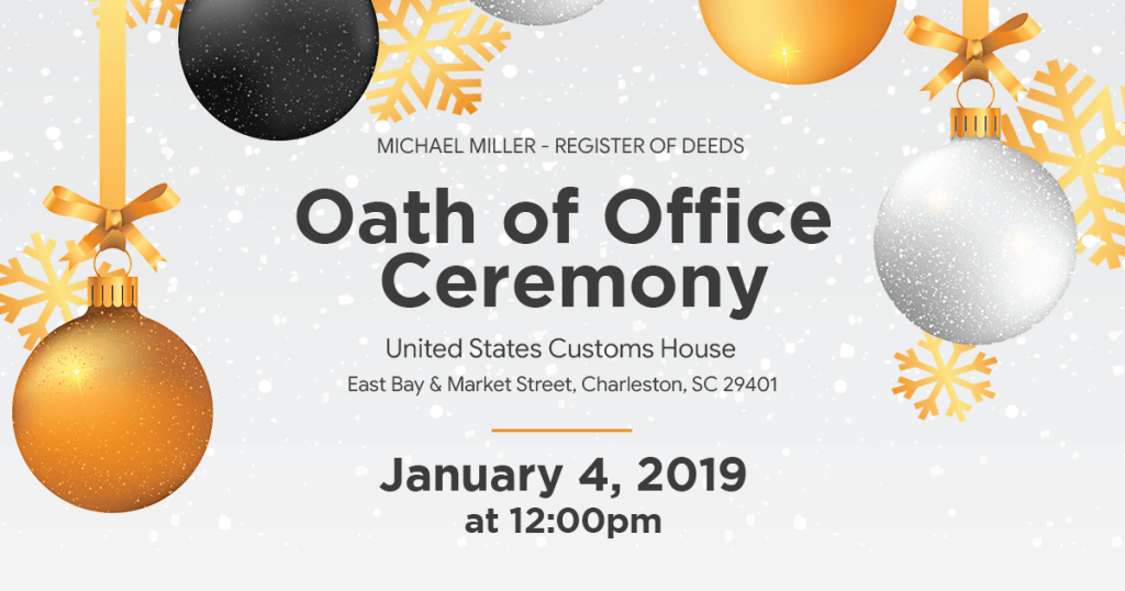 Oath of Office Ceremony - January 4, 2019 at 12:00pm