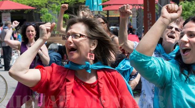 Les pro-choix réaffirment, chantent et dansent le droit à l'