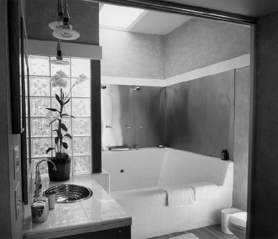 bathroom with luxurious tub/shower