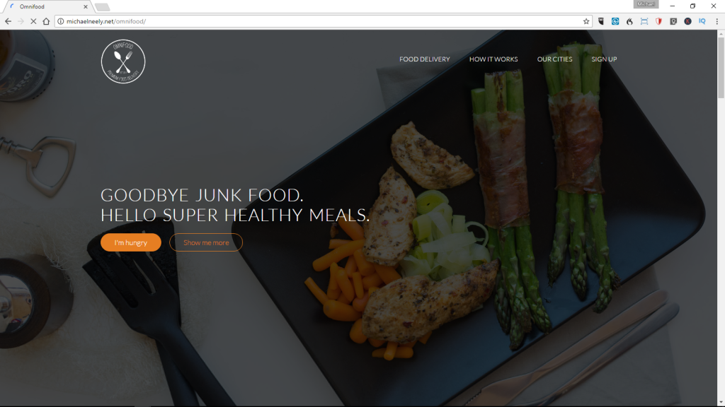 Handcoded HTML5 CSS3 site