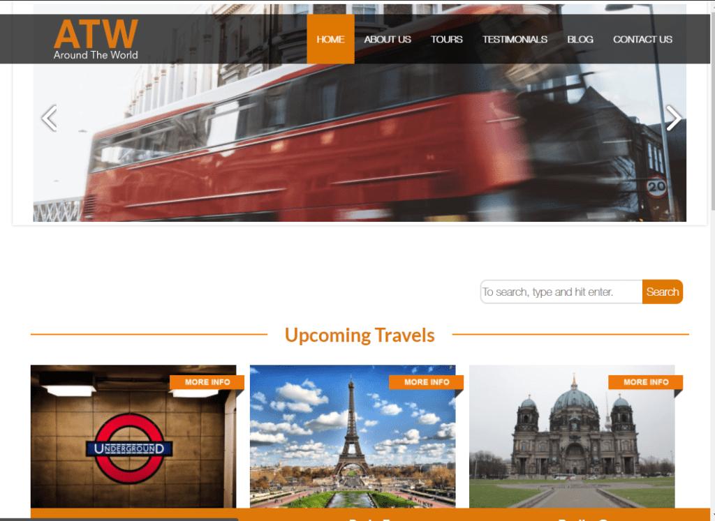Around The World WordPress Theme