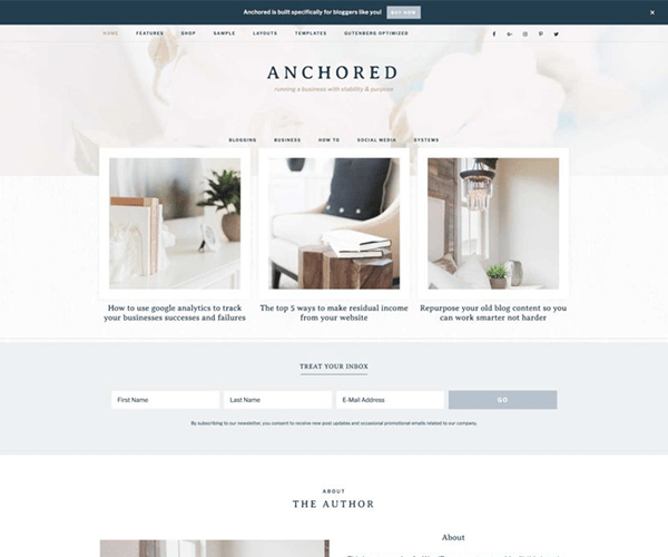 Anchored Theme