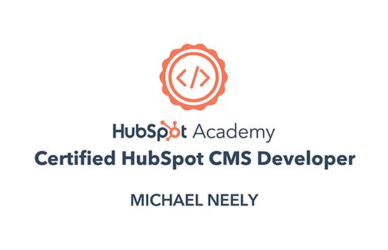 Certified HubSpot CMS Developer Badge