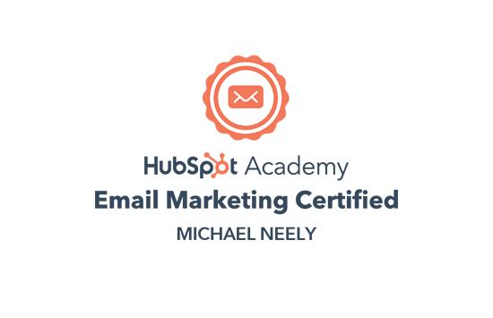 HubSpot Email Marketing Certification Badge