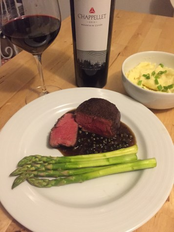 Beef fillet with 2013 Chappellet Mountain Cuvee