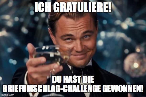 Sieg Briefumschlag Challenge Meme