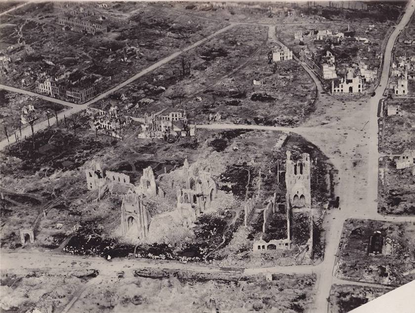 Ieper vanuit de lucht in 1918
