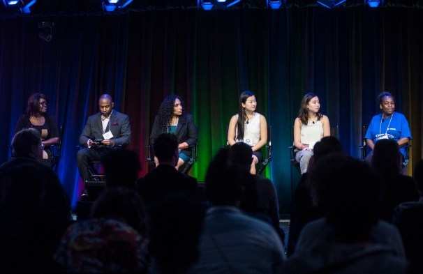 One of the several panels during the youth technology summit that took place in the new Google offices in the west loop on Friday June 17, 2016.