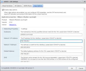 Changing IP address of Log Insight Master Node