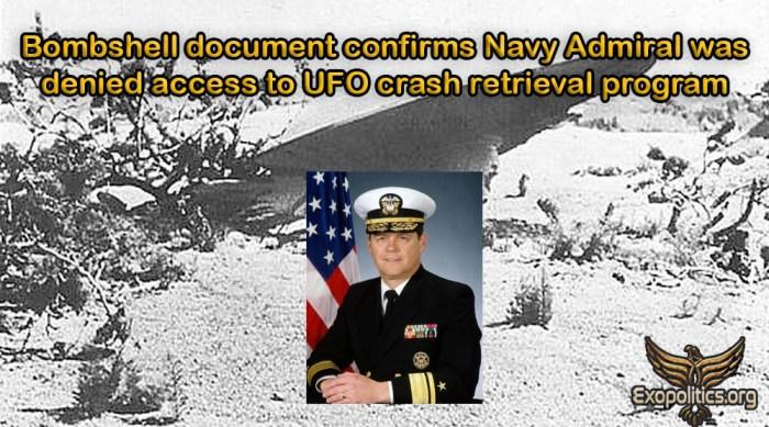 Bombshel Doc Navy Admiral Denied Access