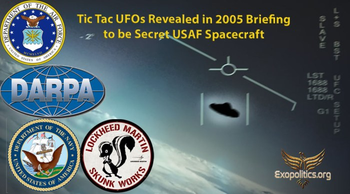 Tic Tacs Revealed in 2005 Briefing to be USAF Spacecraft