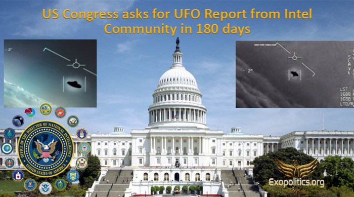 US Congress seeks UFO Report from Intel Community in 180 days