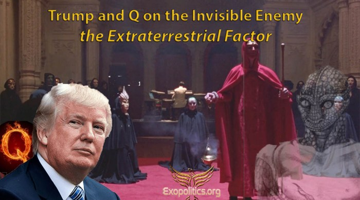 Trump and Q on the Invisible Enemy