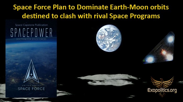 Space Force Plan to Dominate Earth-Moon orbits destined to clash with rival Space Programs