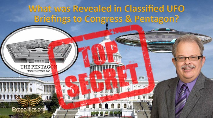 What was Revealed in Classified UFO Briefings to Congress & Pentagon