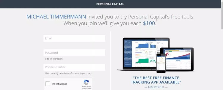 Personal Capital $100 referral