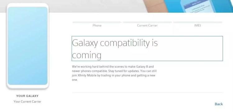 Xfinity Mobile Samsung BYOD
