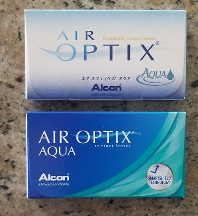 Same Air Optix Aqua lenses, different style