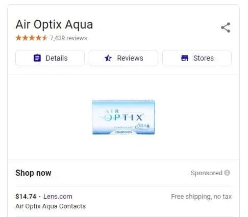Air Optix Aqua - Lens.com Google results