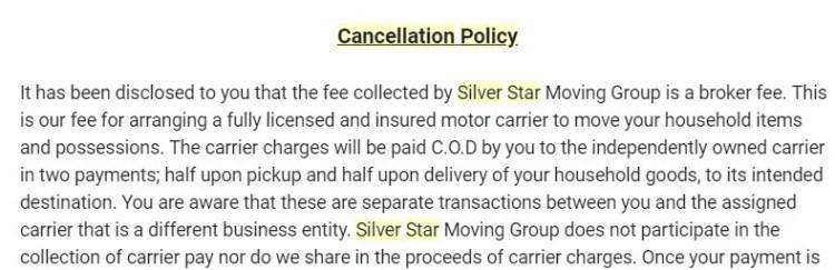 Silver Star is a broker, not a carrier
