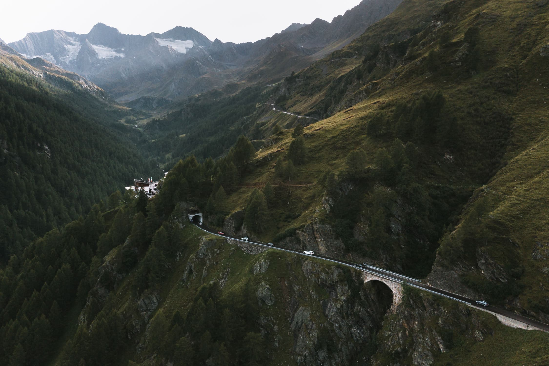 From a roadtrip through the Italian and Swiss alps for Sixt using a BMW X5 to drive through the mountain landscapes by photographer Michael Schauer