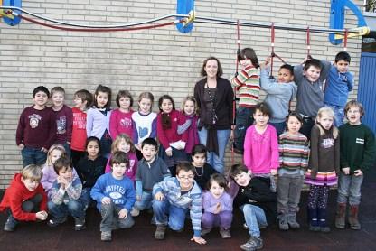 Klasse 1a, Lehrerin Sandra Gegenwart