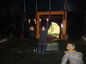Abbau des Zirkuszelts