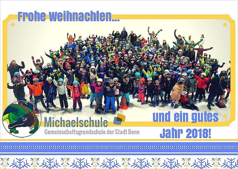 Die Michaelschule wünscht frohe Weihnachten und ein gutes Jahr 2018!