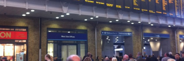 Euston Station and Kings Cross Station, London: Sounds of transit and motion