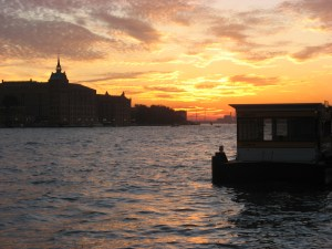 Venetian sunset and the Vaporetto