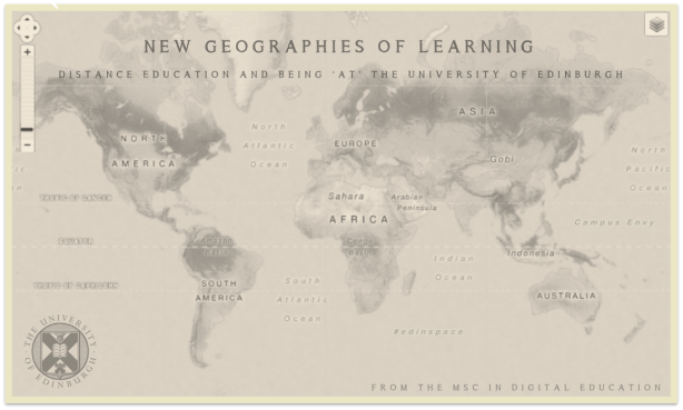 New Geographies of Learning: distance education and being 'at' The University of Edinburgh