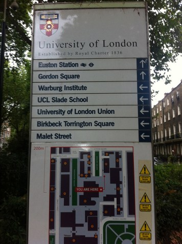 University of London: Benchmarks and Parks