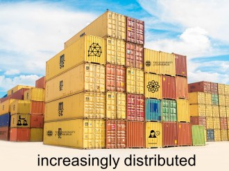 Distribution is the operating force here and it can inform all our pedagogy (as it already does the structure of digital education). Imagine distributed, rigorous pedagogy; distributed geography and place considerations; distributed (and more than likely ephemeral) constructions of sociality and identity. This great unmooring we are living through shows no signs of abating, despite many attempts at consolidation.