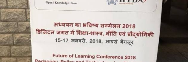 Near Future Teaching and a recent presentation at the Future of Learning conference in Bengaluru, India