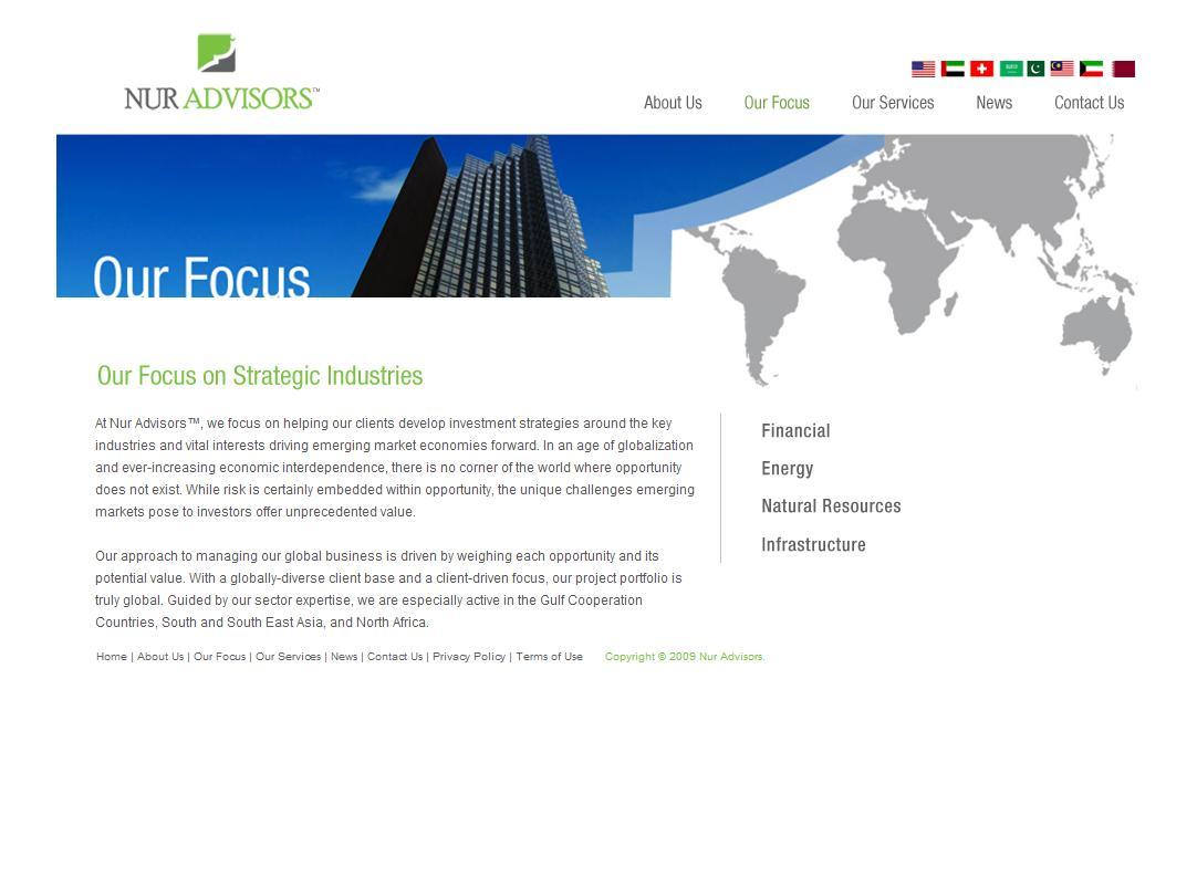 Nur Advisors - Our Focus