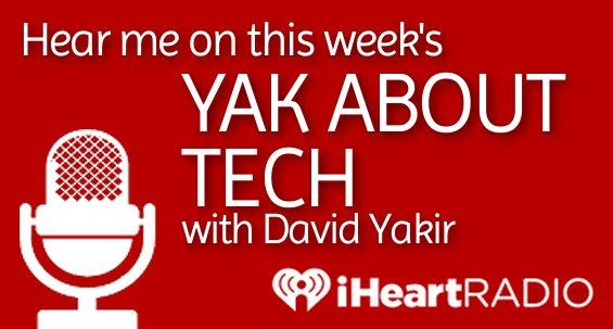 "Hear me on ""Yak About Tech""!"