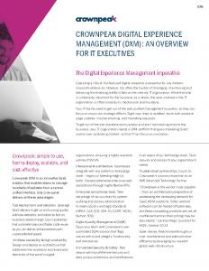 Executive Data Sheet for IT Execs